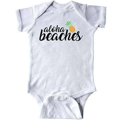 inktastic - Hawaiian Pineapple Aloha Beaches Infant Creeper Newborn White 27e1c