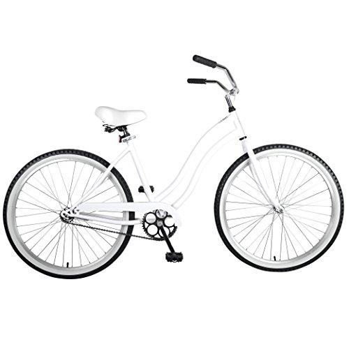 (Cycle Force Cruiser Bike, 26 inch Wheels, 18 inch Frame, Women's Bike, White)