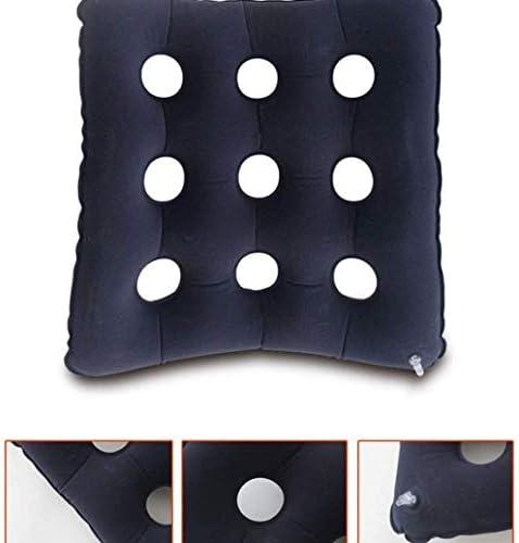 VGZ Rollstuhl Luftkissen Anti Bedsore Square Aufblasbare Kissen verhindern Dekubitus-Sitzmatratze 17,7 x 16,1 Zoll rot 41x45cm-41x45cm_Blau