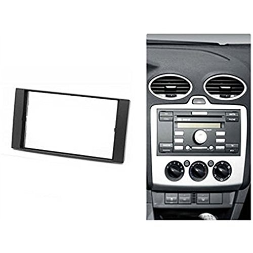 Fiesta Double-DIN Car Radio Frame Mounting Kit with ISO Adapter for Ford Galaxy C-MAX S-MAX or Transit Focus