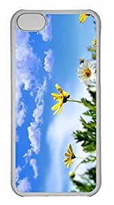 iPhone 5C Case, Personalized Custom Spring Background for iPhone 5C PC Clear Case