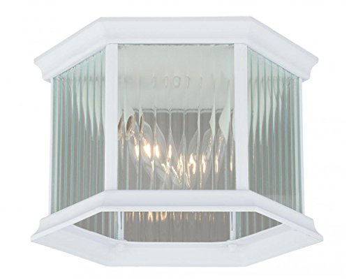 Vaxcel T0137 Kingston Aluminum Outdoor Flush Mount, 9