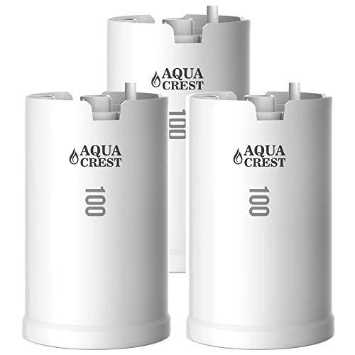 AQUACREST WFFMC103X Faucet Water Filter, Compatible with DuPont FMC103X, WFFMC100X Faucet Mount Water Filtration Cartridge, 100-Gallon (Pack of - Box Salt 200 Gallon