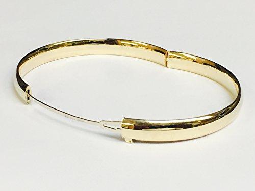 01294f1b529af RCI 14K Yellow Gold Shiny Hinged Bangle Bracelet 6Mm, 8 Grams, 8 Inch 4/16