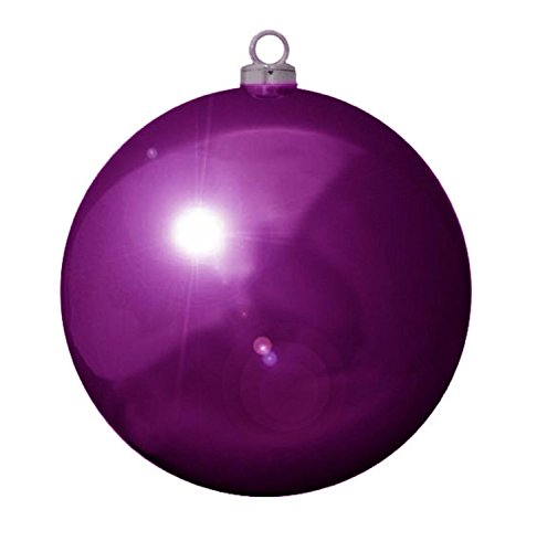 Vickerman Shiny Purple Passion Commercial Shatterproof Christmas Ball Ornament 12'' (300MM) by Vickerman