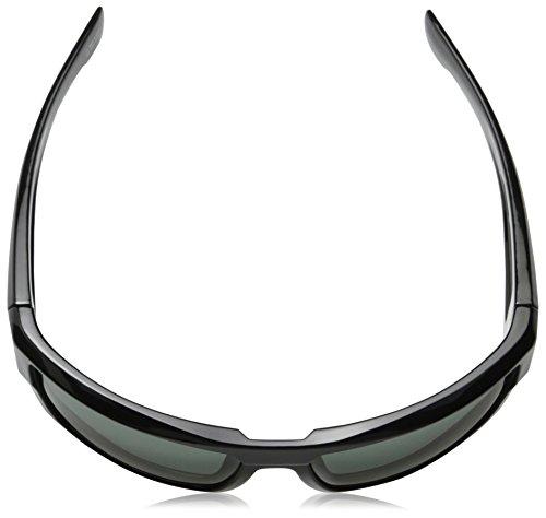 Spy Optic Dirk Wrap Sunglasses, 64 mm (Black/Happy Gray/Green)