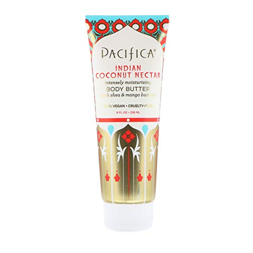 Pacifica Body Butter Tube, Indian Coconut Nectar, 8 Ounce (Pacifica Indian Coconut Nectar Perfume Roll On)