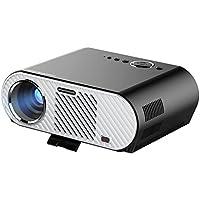 MonkeyJack Video Projector Protable, GP90 LCD Projector HD 1080p 3200 Luminous Efficiency LED Multimedia Home Cinema Theater Entertainment