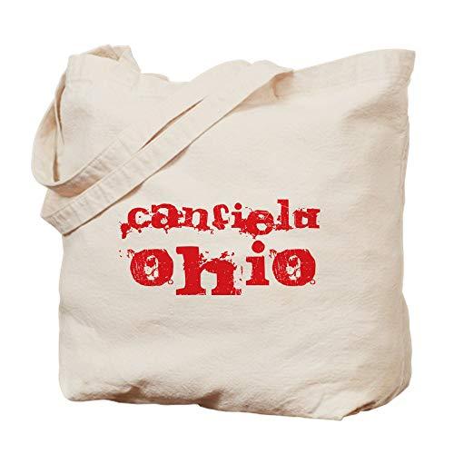 (CafePress Canfield, Ohio Natural Canvas Tote Bag, Cloth Shopping Bag)