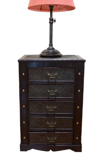 Styled Shopping Decorative New England Night Stand with Drawers Treasure Chest Trunk