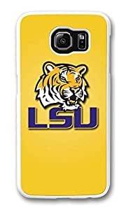 Galaxy S6 Case, S6 Cases, Custom Lsu Tigers Galaxy S6 Bumper Case [Scratch Resistant] [Shock-Absorbing] Hard Plastic White Protective Cover Cases for New Samsung Galaxy S6