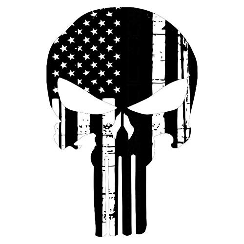 Hitada - 11.6x17.7CM Personality Punisher Skull American Flag Car Stickers Covering The Body Of Fashion Vinyl Decals - Body Punisher