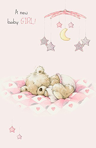 Precious Little New Baby Girl Teddy Congratulations