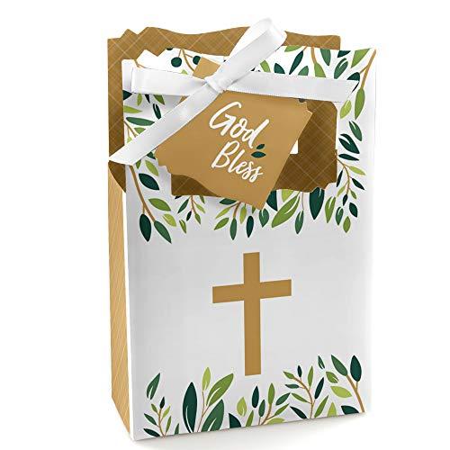 Elegant Cross - Religious Party Favor Boxes - Set of 12]()