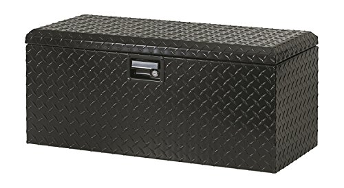 Lund 288271BK 32-Inch Aluminum ATV Storage Box, Diamond Plated, Black ()
