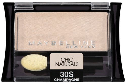 Maybelline New York Expert Wear Eyeshadow Singles, 30s Champagne Fizz Chic Naturals, 0.09 Ounce