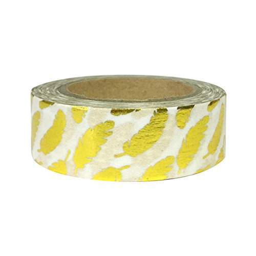 AllyDrew Washi Tapes Decorative Masking Tapes, Gold Feathers ()