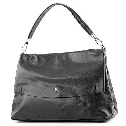 modamoda de - Made in Italy - Bolso al hombro para mujer negro