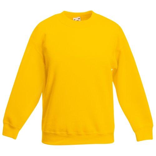 Fruit of the Loom Kids Big Girls Classic 80/20 Set-In Sweatshirt (12-13 Years) (Sunflower) ()