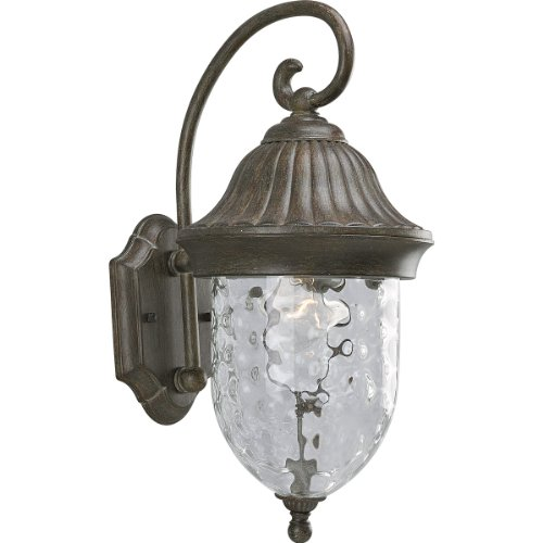 (Progress Lighting P5828-87 1-Light Chain Hung Lantern with Optic Hammered Clear Glass, Fieldstone)