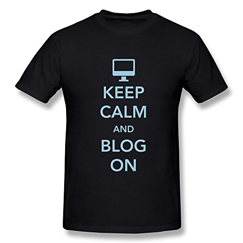 SNOWANG Men's Keep Calm Blog On T-shirt - Rihanna Blog