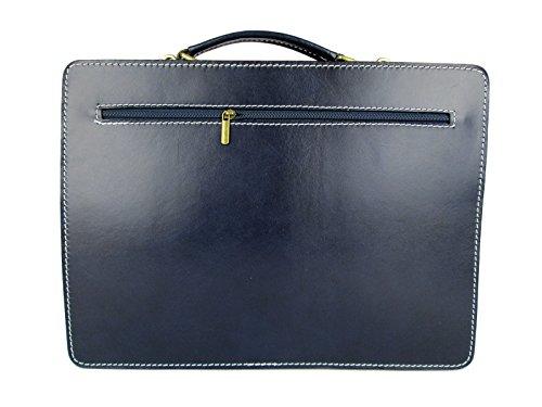 cartella FG valigetta organizer in italy borsa ventiquattrore pelle blu vera made Pq6cAWwdW