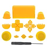 PS4 Yellow Full Parts Set (Thumbsticks, Buttons, D-pad, Triggers, Touchpad) for Playstation 4 Controller
