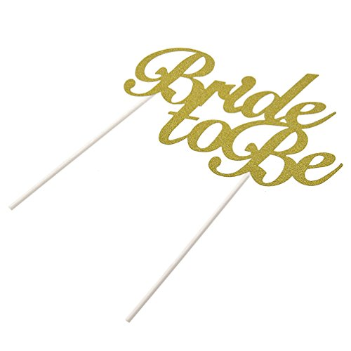 Bride to be Cake Toppers LOVE Cupcake Glitter ONE Word Cake Decoration For Party
