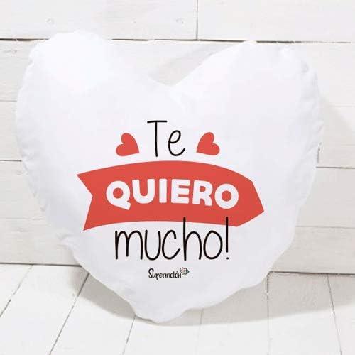 Cojín corazón Te Quiero Mucho – Regalo San Valentín, Enamorados, Aniversario, Amor – Cojín Forma de corazón 40×40 cm