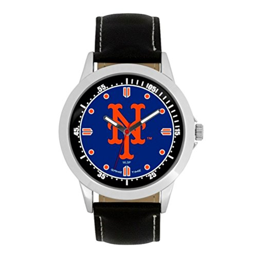 Game Time MLB- New York Mets Player Series Watch, Black, 44.00mm