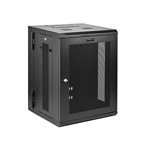 StarTech.com Wall Mount Server Rack Cabinet - 15U Rack - 20in Deep - Hinged Enclosure - Wall Mount Rack - Server Cabinet ()
