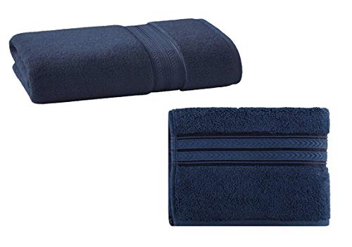 Better Homes & Gardens Thick & Plush Solid Bath Towel in Admiral Blue, 1-Count Bundle Thick & Plush Solid Hand Towel in Admiral Blue, 1-Count.
