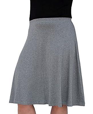 Kosher Casual Women's Mid-Knee Length Full A-Line Skater Skirt