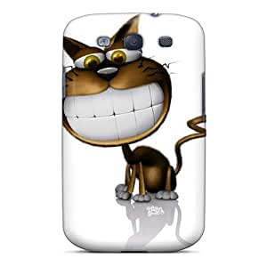 For Galaxy S3 Protector Cases 3d Smiling Cat Phone Covers