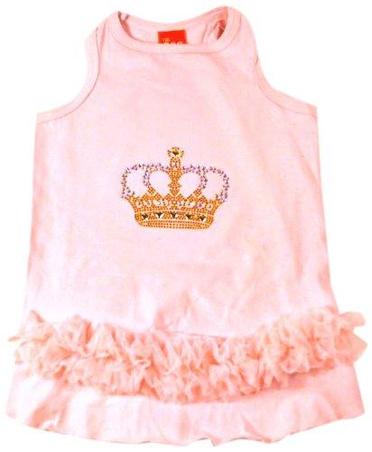 The Dog Squad Tutu Pet Dress, XX-Small, AB Crown Pale Pink