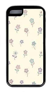 Flower Custom Personalized Design DIY Back Case for iPhone 5C TPU Black -1210143