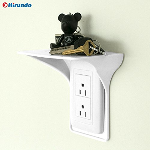 Hirundo Wall Outlet Shelf Power Perch, (White 2 Pcs) by Hirundo (Image #7)