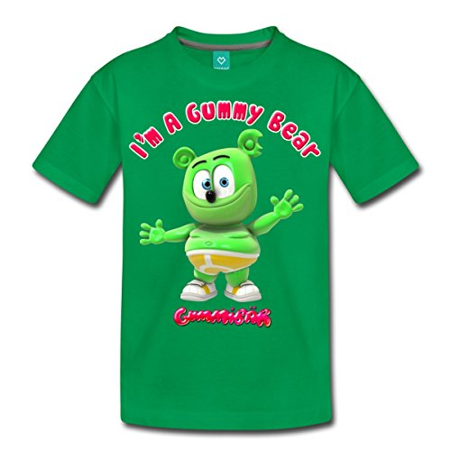 Dancing Bear Green - Spreadshirt Gummibär I'm A Gummy Bear Kids' Premium T-Shirt, Youth M, kelly green
