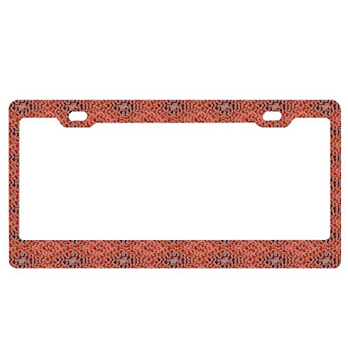 Weave Terra Cotta - HFEUWgkfelsnsaf Terracotta Clay Red and Grey Mosaic Diamond Weave Harlequin Pattern Personalized Metal License Plate Auto Car Tag