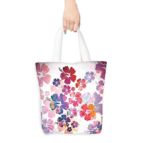 Hawaiian Utility Tote Bag Exotic Floral Print Island Theme Tropical Hawaii Flowers Pattern Art Print boutique 16.5