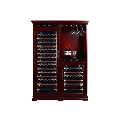 Royal 232 Bottle Dual Zone Wine Cellar Solid Red Oak Cabinet And Bar