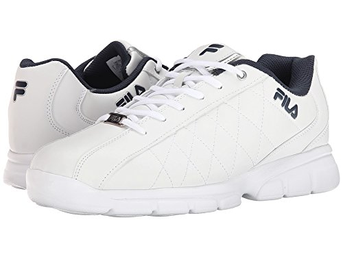 Fila Men's Fulcrum 3 Athletic Shoe, White/White Navy, 10.5 D US (Fila Sport Shoes Men)