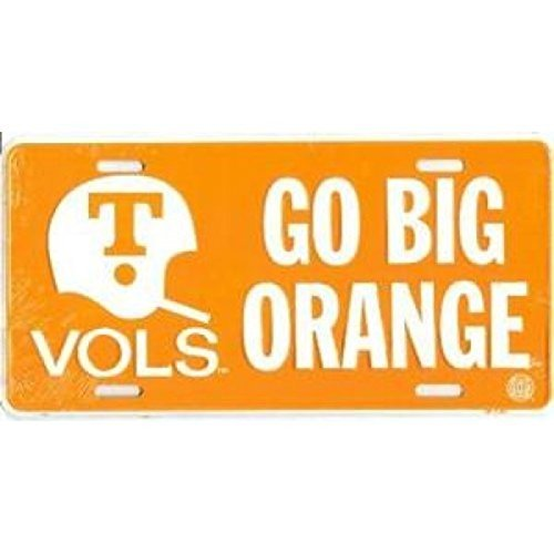 University of Tennessee Go Big Orange License Plate Tin Sign 6 x 12in by Dixie Seal & Stamp