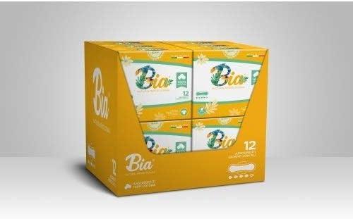 Compresas transpirables día BIA con alas biológicas 100% algodón orgánico hipoalergénico 144 unidades: Amazon.es: Salud y cuidado personal