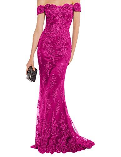 Festlichkleider 2018 Charmant Tanzenkleider Lawender Lang Promkleider Pink Damen Formalkleider Meerjungfrau Abendkleider Spitze nUA7WArR