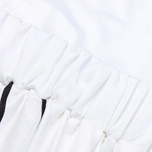 stampa pantaloni Hop Jogging Sportivi alla YanHoo con vita donna a con alta Pantaloncini Halloween Donna Larghi Lunghi Yoga gamba lunghi Moda da Ragazza bassa Harem ampia a Baggy Bianco Pantaloni Hip vita qCdC6Zx0