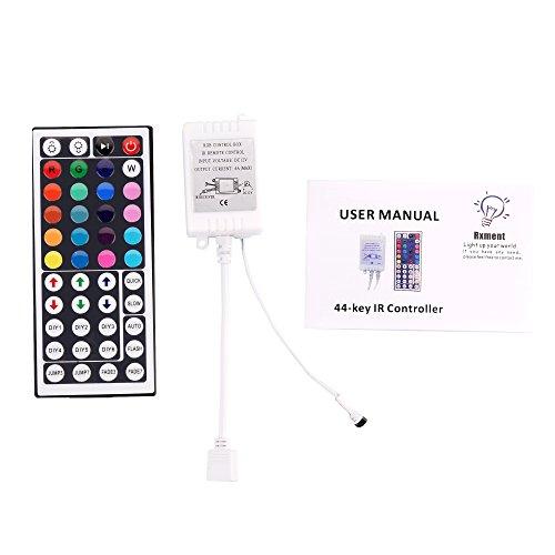 Rxment DC12V~24V 6A RGB Control Box + 44keys Remote Controller for LED Lights Strips
