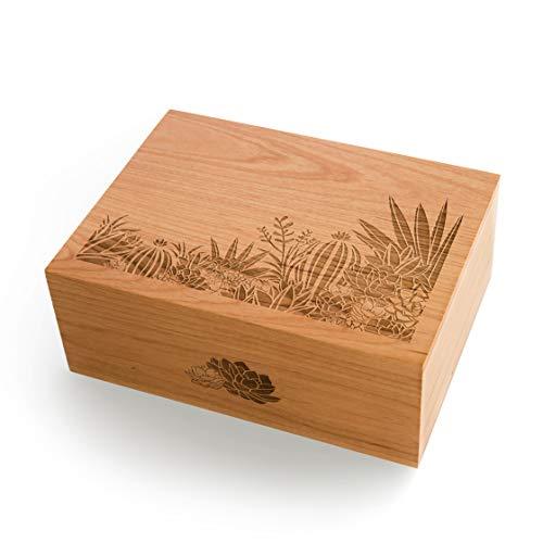 - Desert Garden Laser Cut Wood Keepsake Box (Wedding Gift/Birthday Gift/Heirloom/Decorative/Handmade)
