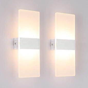 Klighten Lámpara de pared Interior 12W Moderna Apliques de Pared ...