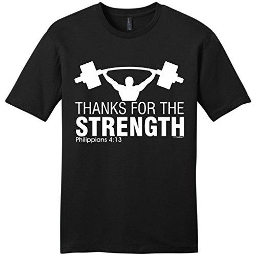 Thanks Strength Christian Workout T Shirt